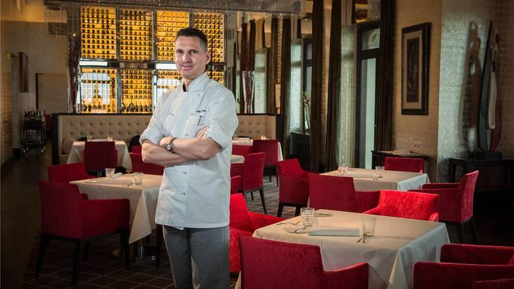 Chefkoch Heiko Nieder vom «The Restaurant» im The Dolder Grand.