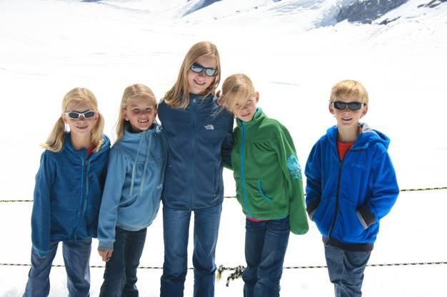 Die fünf Geschwister haben einen guten Zusammenhalt. Ein Bild aus dem Jahr 2010.