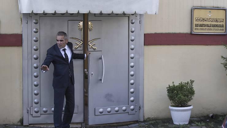 Der Eingang zum saudiarabischen Konsulat in der türkischen Metropole Istanbul.