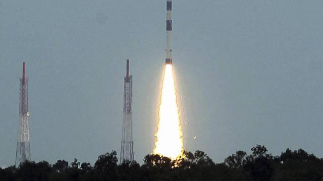 Brachte Indiens Premier Singh ins Schwärmen: der erfolgreiche Start der PSLV-Rakete