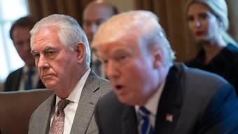 Donald Trump will seinen Aussenminister Rex Tillerson (l.) nicht mehr.