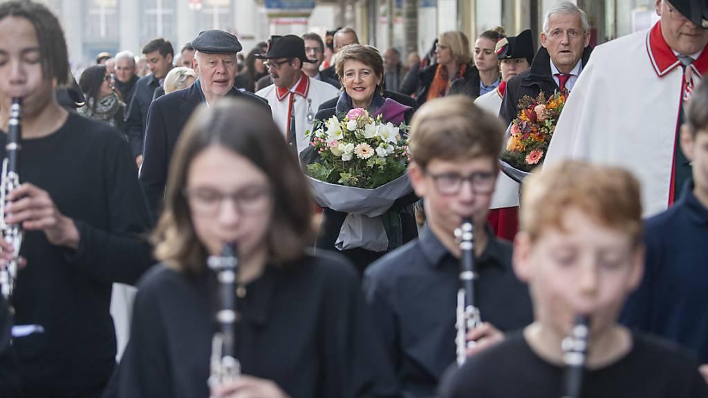 Bieler Musikschüler umrahmten die offizielle Feier.