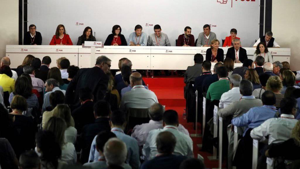 Versammlung der Sozialistischen Arbeiterpartei (PSOE) am Sonntag in Madrid.