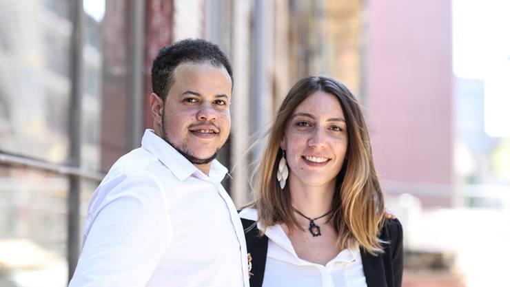 Alessandro und Fabienne Menna: Die beiden Co-Gründer des Vereins Siidefade lernten sich in einer Facebook-Gruppe für Menschen am Existenzminimum kennen.