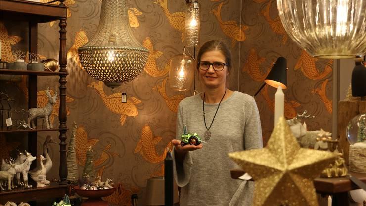 Hofft auf einen guten Umsatz diesen Sonntag: Claudine Hirt, Inhaberin des Geschäfts Trag-Werke in Rheinfelden. Dennis Kalt
