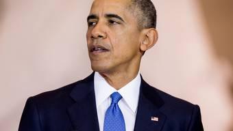 US-Präsident Barack Obama während seiner Sklaverei-Rede im US-Kongress.