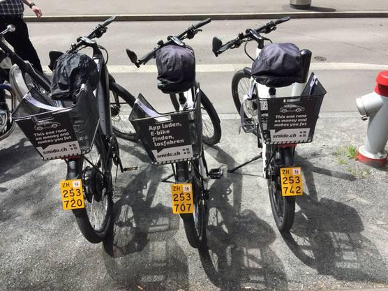 Parkierte E-Bikes von smide.ch
