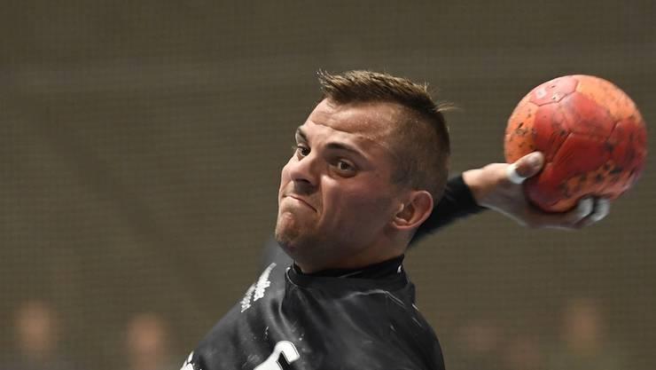 Die Badener Handballer um Pascal Bühler nahmen den Schwung aus dem Sieg gegen Endingen mit.