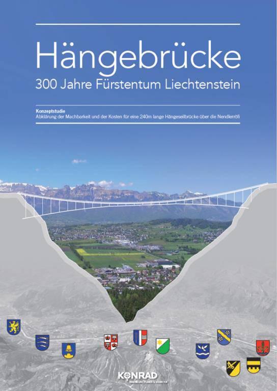 Die Hängebrücke verbindet das Oberland mit dem Unterland