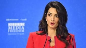 ARCHIV - Amal Clooney, Menschenrechtsanwältin aus dem Libanon und Ehefrau des US-amerikanischen Schauspielers George Clooney. Foto: Dominic Lipinski/PA Wire/dpa