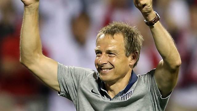 Jürgen Klinsmann feiert mit den USA den Gruppensieg in WM-Quali.