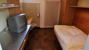 Eine Zelle in der Strafanstalt Schöngrün in Biberist.Om