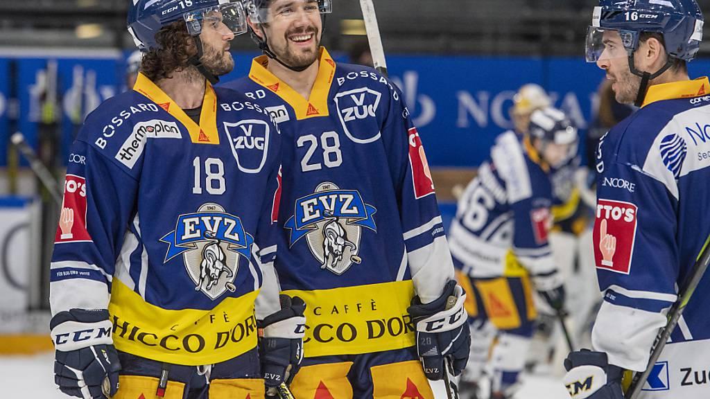 Der EV Zug gewinnt das letzte Spiel der Qualifikation gegen Biel und bestätigt damit den Punkterekord in der NLA. Auch nach Punkten pro Spiel sind die Zuger (119 Punkte aus 52 Spielen) besser als der HC Davos 2010 (113 Punkte aus 50 Spielen)