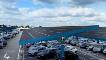 So soll die neue Solaranlage im Disneyland Paris aussehen.