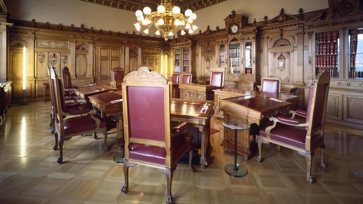 Blick ins Bundesratszimmer: Welche Parteien sollen fortan in der Landesregierung vertreten sein?