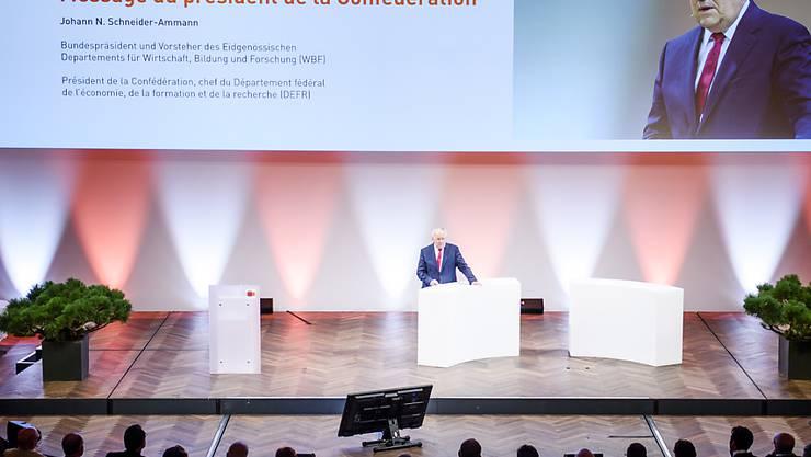 Bundespräsident Johann Schneider-Ammann glaubt nach wie vor an eine pragmatische Lösung zur Umsetzung der Masseneinwanderungsinitiative.