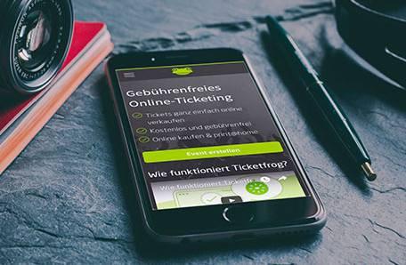 Das gebührenfreie Ticketfrog funktioniert auch auf Smartphones.