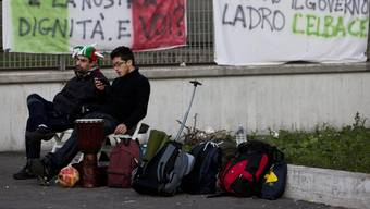 Nur wenige kamen: Der Protest der «Forconi» in Rom war ein Flop. key