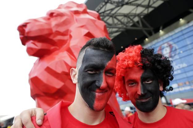 Albanische Fans feiern ausgelassen in Frankreich