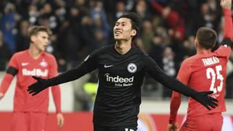 Daichi Kamada war mit drei Toren der Mann des Spiels beim 4:1 von Eintracht Frankfurt gegen Salzburg