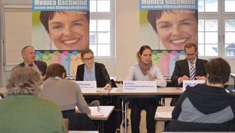 Dem Personenkomitee gehören neben Jürg Wiedemann (links) auch die beiden Lehrpersonen Kathrin Schaltenbrand-Kovacs (FDP) und Pascal Ryf (CVP) an. zvg