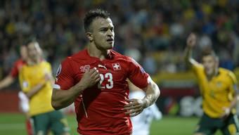 Matchwinner: Xherdan Shaqiri schoss das Schweizer Tor zum 2:1.