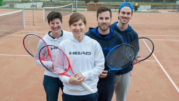 Evelyne Leu, Petra Fisch, Steven und Tom Christen (von links) sind S.T.E.P.
