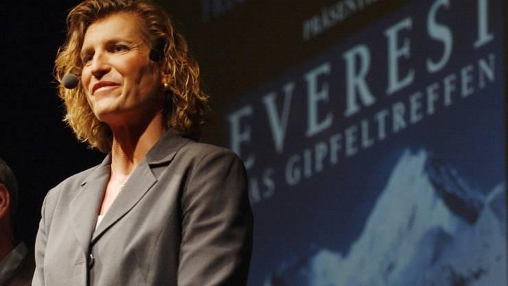 Extrembergsteigerin Evelyne Binsack hat in den letzten Monaten Spenden für die Erdbebenopfer in Nepal gesammelt (Archiv).