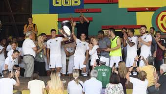 Konnten den letztjährigen Uhrencup für sich entscheiden: Die Wolverhampton Wanderers aus England.