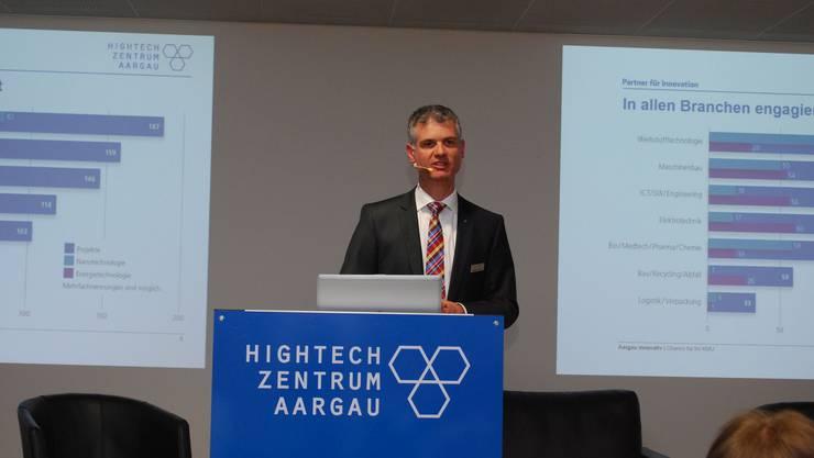 Martin Bopp, Geschäftsführer des Hightech Zentrums Aargau: Leistung und Wirkung.