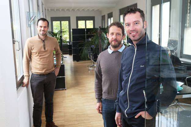 V.l. Rafael Waber, Andreas Renggli, Jörg Bruppacher.