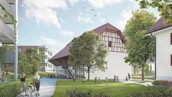 So werden die Scheune und die Alte Post ins Bild eingebettet. Das neue Quartier ist architektonisch abwechslungsreich gestaltet.