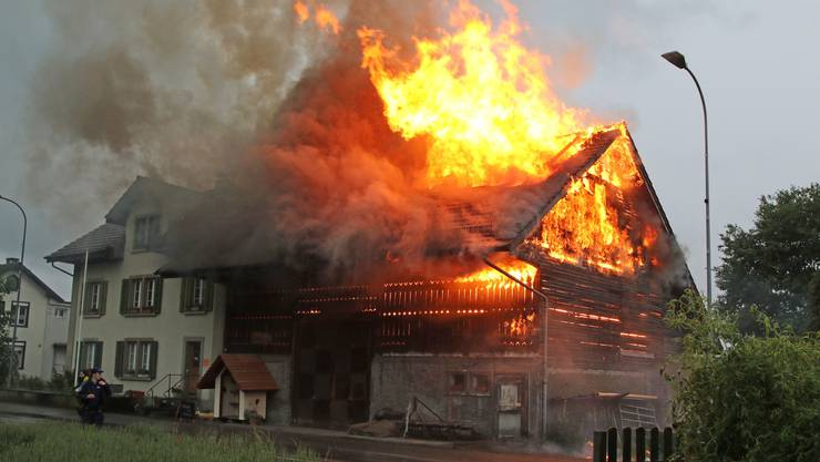 Brand in Küngoldingen