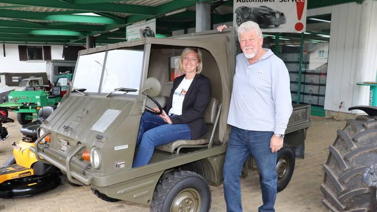 Jeannine Fritschi-Lüscher hat im Januar 2019 das Geschäft Lüscher Landtechnik AG von ihrem Vater Jean-Pierre Lüscher übernommen.