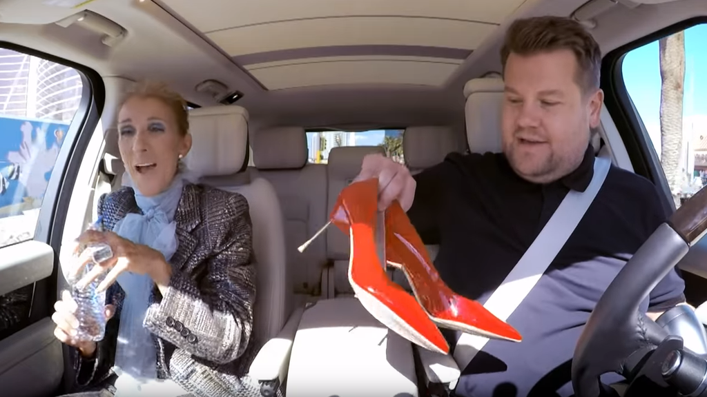 Céline Dion verschenkt Schuhe
