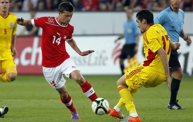 Valentin Stocker in seinem bisher letzten Länderspiel am 30.Mai 2012 gegen Rumänien.