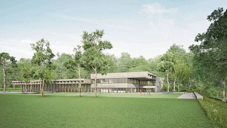Das Siegerprojekt bot mit 2200 Quadratmetern bedeutend weniger Platz. Bild: zvg/Stoos Architekten