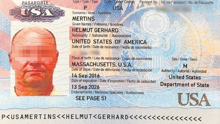 Im Internet aufgetauchter Pass: CIA-naher Waffenhändler Mertins