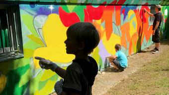 Auch ein Graffito wurde angefertigt.