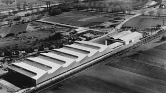 Die neuen Lagerhallen in Dietikon wurden 1961 fotografiert. zvg
