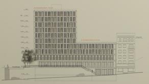 Eine Ansicht der Überbauung an der Tannwaldstrasse/Rosengasse.