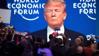 Vor zwei Jahren war er da: US-Präsident Trump bei seinem Auftritt in Davos am 26. Januar 2018.