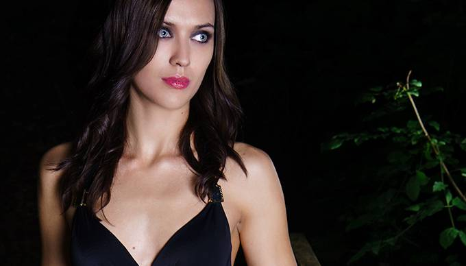 Foto von Irmela Sabotic eines Bikini-Shootings