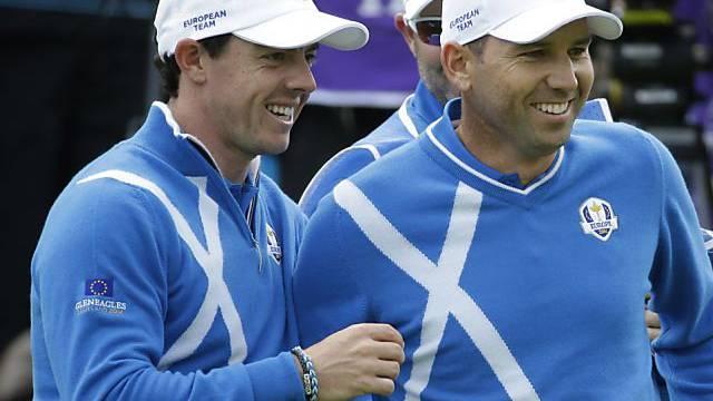 Rory McIlroy und Sergio Garcia hatten nicht viel zu lachen