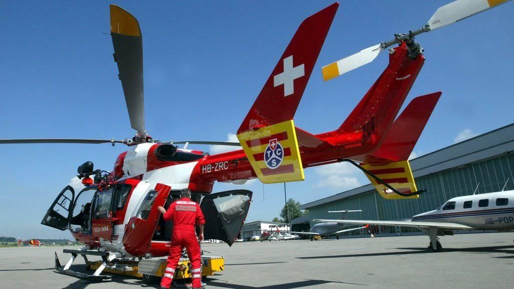 Wird es bald nicht mehr geben: TCS-gebrandeter Helikopter (Archivbild).
