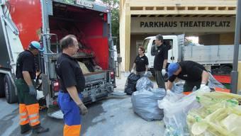 Baden: Der Abfall vom Stadtfest sammelt sich