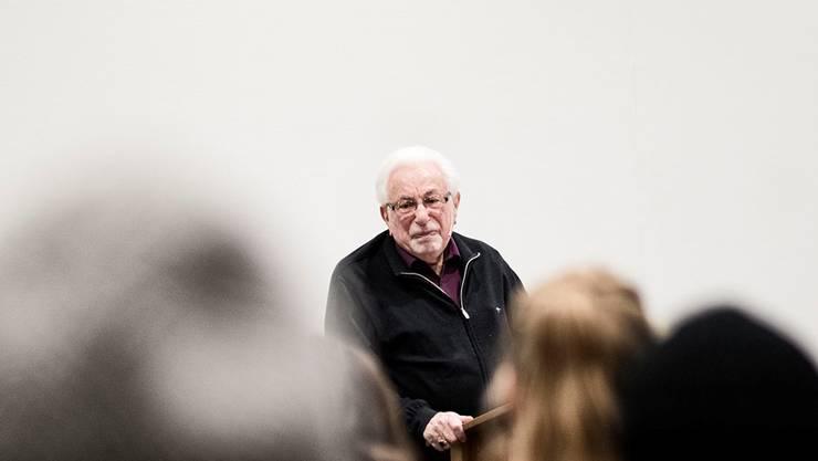Shlomo Graber hielt gestern einen seiner letzten Vorträge.