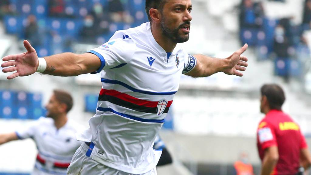 Vier Spiele, vier Tore: Sampdorias Altmeister Fabio Quagliarella (37) kanns noch immer