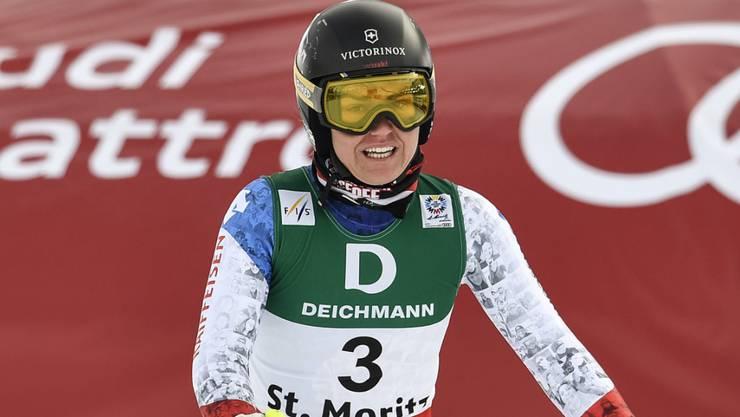 Fabienne Suter belegt auch im zweiten Training Platz 2