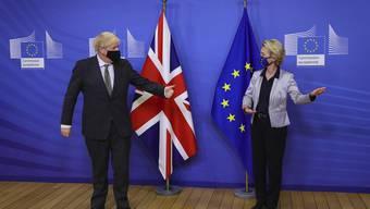 Treffen in der EU-Hauptzentrale in Brüssel: Premierminister Boris Johnson mit EU-Kommissionspräsidentin Ursula von der Leyen.